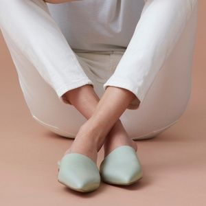 Everlane Sz 6.5 The Pointed Slide in Sage Green